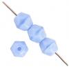 Fire Polished 4mm Opaque Blue Silk